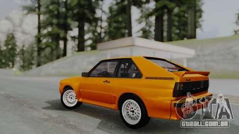 Audi Quattro Coupe 1983 para GTA San Andreas vista interior