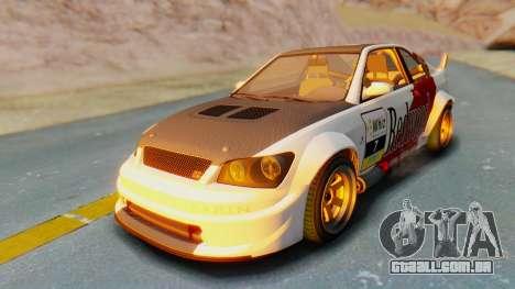 GTA 5 Karin Sultan RS Carbon para GTA San Andreas vista superior