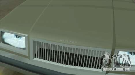 Willard Majestic para GTA San Andreas vista superior