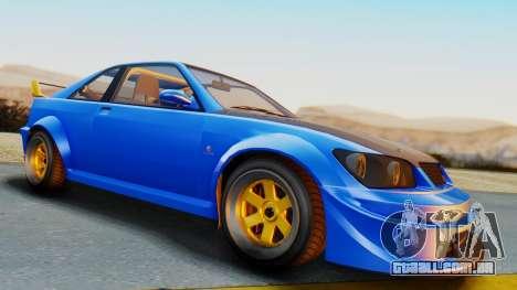 GTA 5 Karin Sultan RS Carbon para GTA San Andreas vista direita
