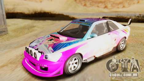GTA 5 Karin Sultan RS IVF para vista lateral GTA San Andreas