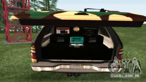 Chevrolet Exterior Camuflagem para GTA San Andreas vista direita