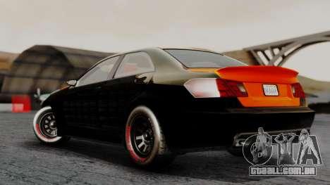 GTA 5 Benefactor Schafter V12 Arm para GTA San Andreas esquerda vista