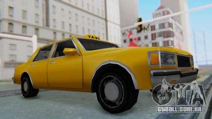 Taxi Version of LV Police Cruiser para GTA San Andreas