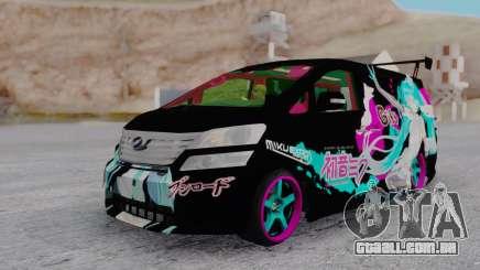 Toyota Vellfire Miku Pocky Exhaust para GTA San Andreas