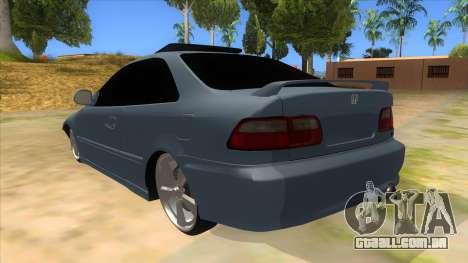 Honda Civic Coupe 1995 para GTA San Andreas traseira esquerda vista