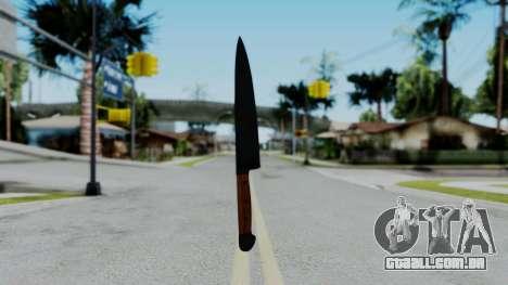 No More Room in Hell - Kitchen Knife para GTA San Andreas terceira tela