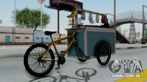 Gerobak Sayur (Vegetable Carts) para GTA San Andreas esquerda vista