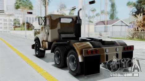 GTA 5 HVY Barracks Semi IVF para GTA San Andreas esquerda vista