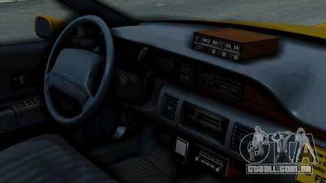 Chevrolet Caprice 1991 Taxi para GTA San Andreas vista direita