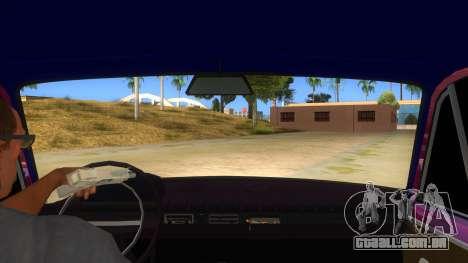 VAZ 2101 Cão para GTA San Andreas vista interior