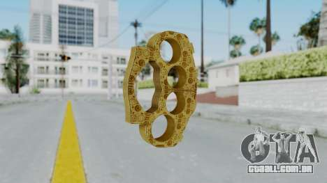 The Lover Knuckle Dusters from Ill GG Part 2 para GTA San Andreas segunda tela