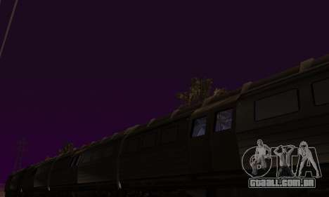 Batman Begins Monorail Train Vagon v1 para vista lateral GTA San Andreas