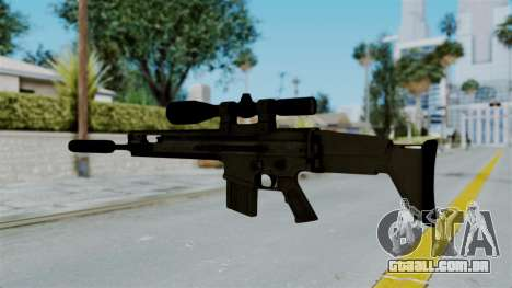 SCAR-20 v1 Supressor para GTA San Andreas segunda tela