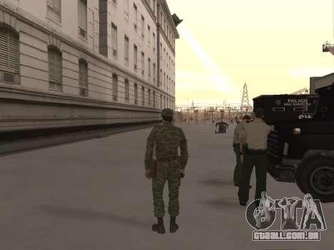O airborne soldado para GTA San Andreas terceira tela
