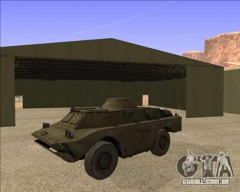 BRDM-2ЛД para GTA San Andreas vista traseira