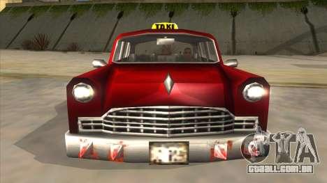 GTA3 Borgnine Cab para GTA San Andreas vista interior