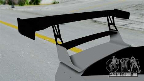 GTA 5 Karin Sultan RS Drift Double Spoiler PJ para GTA San Andreas vista traseira