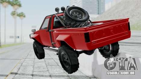 GTA 5 Karin Rebel 4x4 para GTA San Andreas esquerda vista
