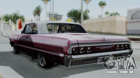 Chevrolet Impala 1964 para GTA San Andreas esquerda vista