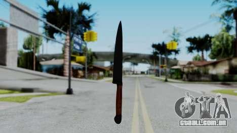 No More Room in Hell - Kitchen Knife para GTA San Andreas segunda tela