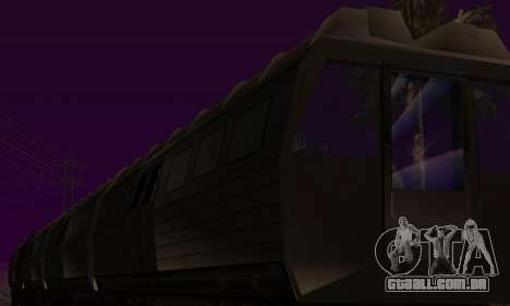 Batman Begins Monorail Train Vagon v1 para GTA San Andreas vista superior