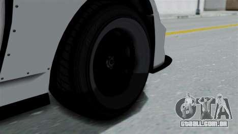 GTA 5 Karin Sultan RS Drift Double Spoiler PJ para GTA San Andreas traseira esquerda vista