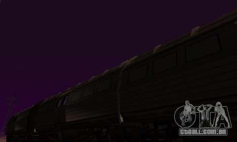 Batman Begins Monorail Train Vagon v1 para GTA San Andreas vista interior
