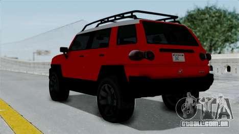 GTA 5 Karin Beejay XL para GTA San Andreas esquerda vista