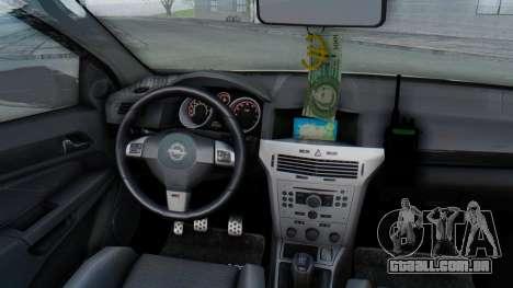 Opel-Vauxhall Astra Policia para GTA San Andreas vista interior