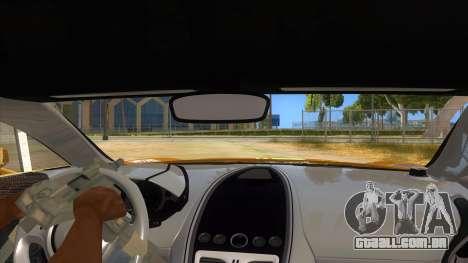 Aston Martine One-77 2010 Autovista para GTA San Andreas vista interior