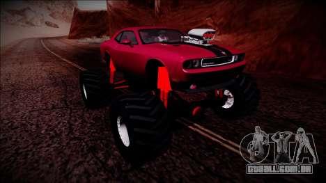 2009 Dodge Challenger SRT8 Monster Truck para GTA San Andreas vista superior