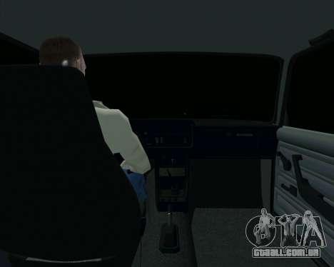 VAZ 2107 Hobo para GTA San Andreas vista interior