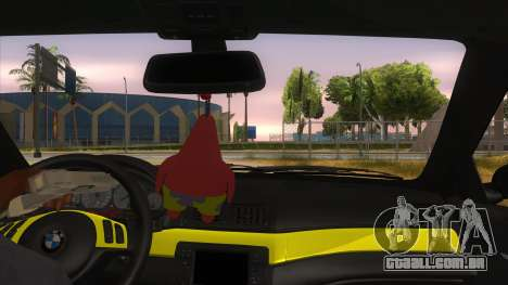 BMW M3 E46 Lily Itasha para GTA San Andreas vista interior