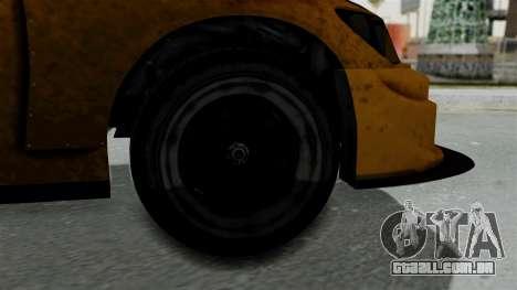 GTA 5 Karin Sultan RS Drift Big Spoiler para GTA San Andreas traseira esquerda vista