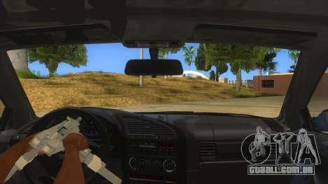 BMW M3 E36 para GTA San Andreas vista inferior