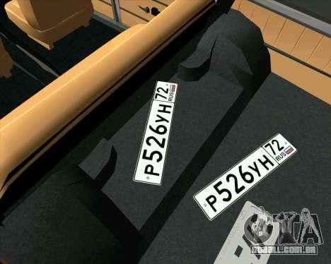 VAZ 2102 Combate Clássicos para GTA San Andreas vista direita