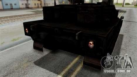 Point Blank Black Panther Rusty IVF para vista lateral GTA San Andreas
