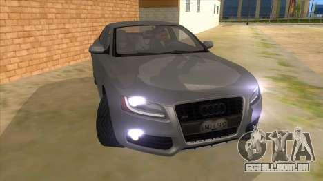 Audi S5 Sedan V8 para GTA San Andreas vista traseira