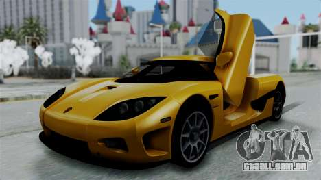 Koenigsegg CCXR 2013 para GTA San Andreas