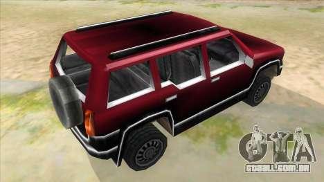 GTA III Landstalker para GTA San Andreas vista direita