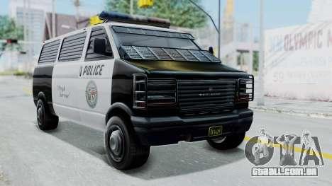 GTA 5 Declasse Burrito Police Transport IVF para GTA San Andreas