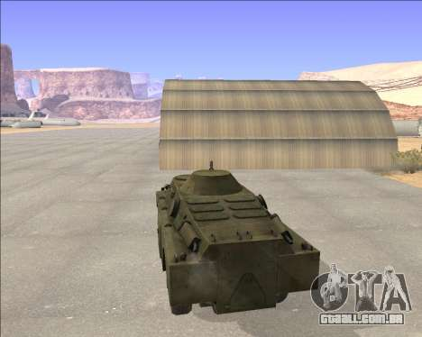 BRDM-2ЛД para GTA San Andreas traseira esquerda vista