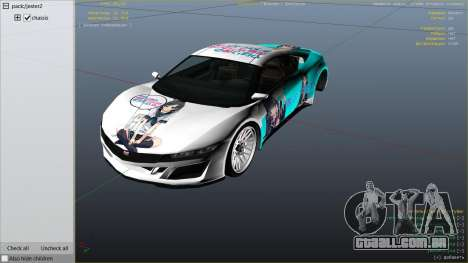 GTA 5 OreGairu painted Jester2 vista lateral direita