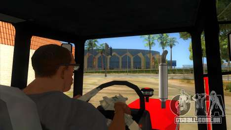 Massley Ferguson Tractor para GTA San Andreas vista interior