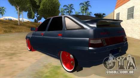 VAZ 2112 Hobo para GTA San Andreas traseira esquerda vista
