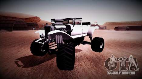 GTA 5 Albany Franken Stange Monster Truck para GTA San Andreas vista direita