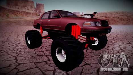 2003 Ford Crown Victoria Monster Truck para GTA San Andreas vista inferior