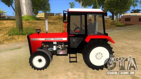 Massley Ferguson Tractor para GTA San Andreas esquerda vista