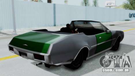 Clover Cabrio para GTA San Andreas vista direita
